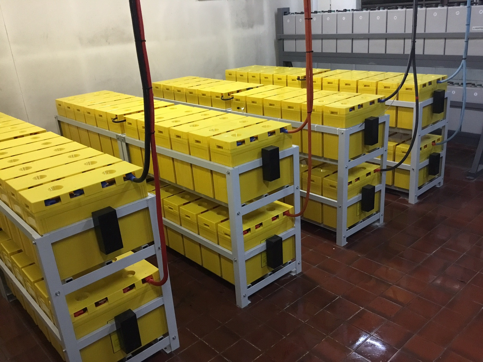 How to safely store industrial VRLA batteries